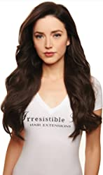 IRRESISTIBLE ME Clip in Human Hair Extensions Medium Brown (Color #4) - 100