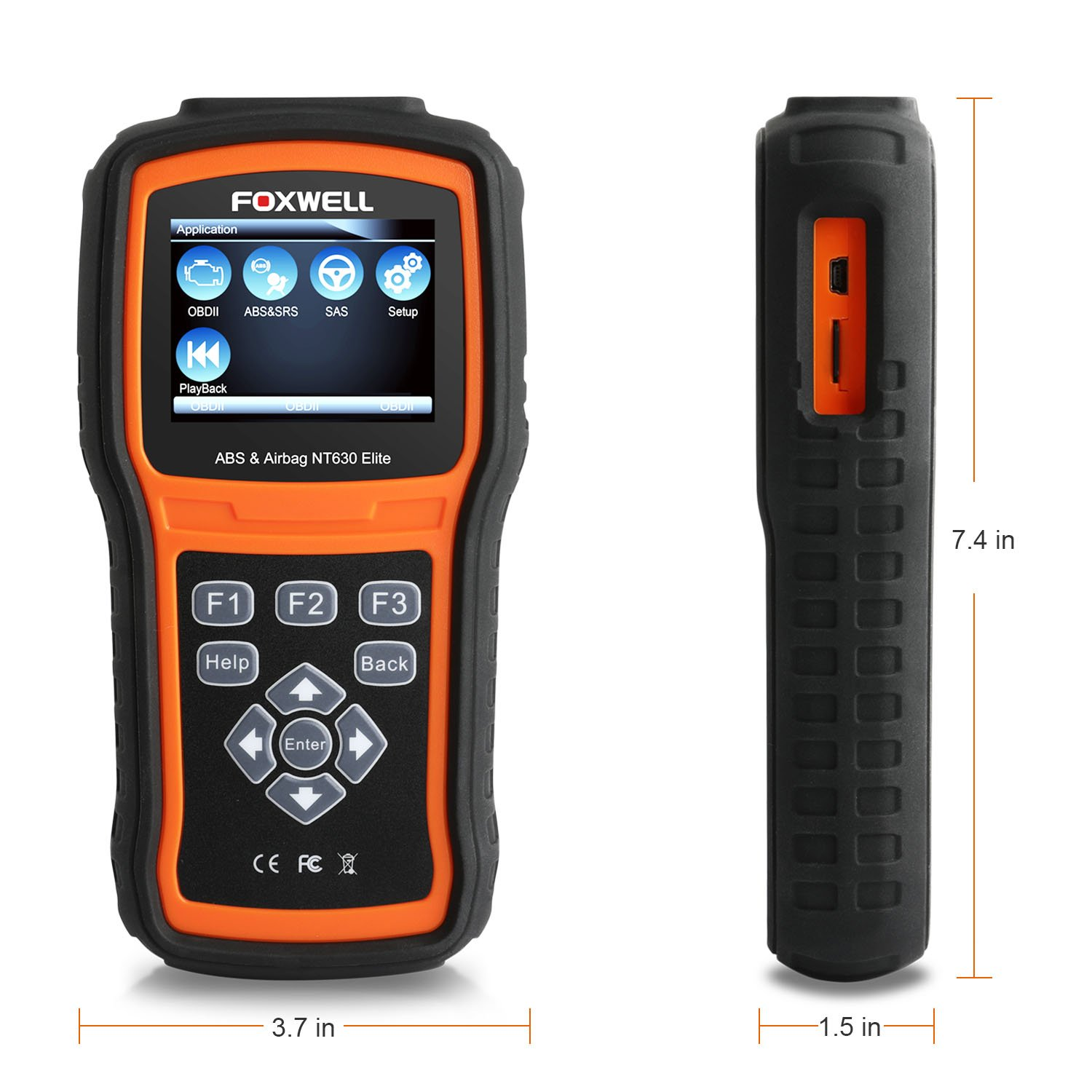 FOXWELL NT630 Elite OBD2 Scanner ABS SRS Code Reader Automotive OBD II ABS Airbag Diagnostic and Active Test Scan Tool by FOXWELL (Image #8)