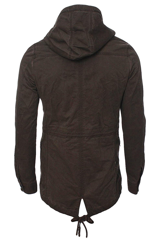 Herren Classic Trend Parka Mantel Mütze Men´s jacket 41487