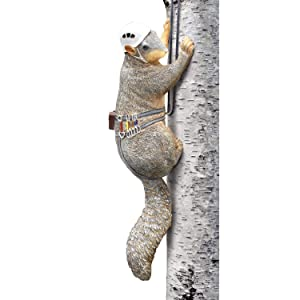 Outdoor Hand Painted Squirrel Tree Climber Sculpture - Fun Garden Statue