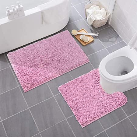 Bath Rugs Bathroom mat Soft and Comfortable Coral Velvet Material Strong Water Absorption Environmentally Friendly and odorless Non-Slip for Bathing and Bathroom Color : Beige, Size : 20 x 32