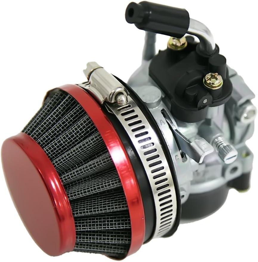 Filtro de aire 60 mm 49//60 80cc motor bicicleta motorizado roja