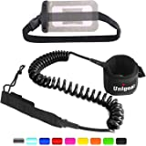 Unigear Premium SUP Leash 10' Coiled Stand Up Paddle Board Surfboard Leash Stay on Board with Waterproof Phone Case/Wallet