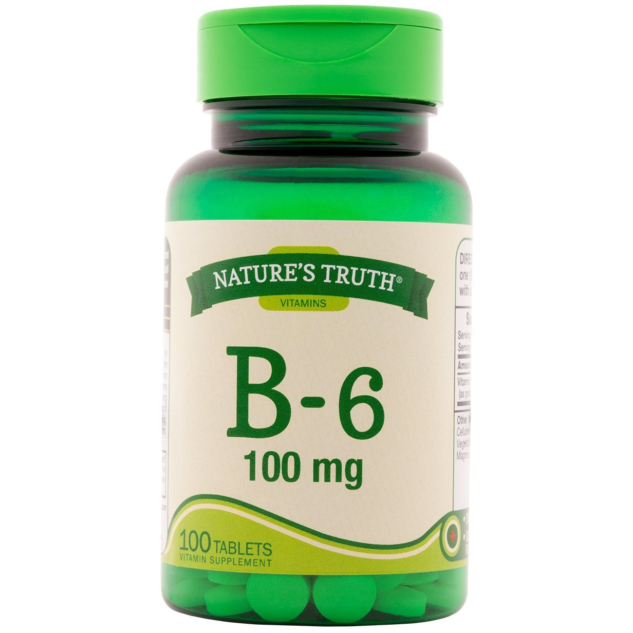 Nature's Truth B-6 100 mg - 100 Tablets, Pack of 6