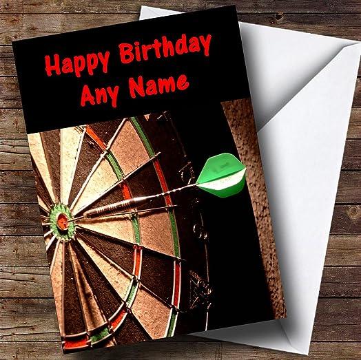 Dartboard Darts Fan Personalised Birthday Card