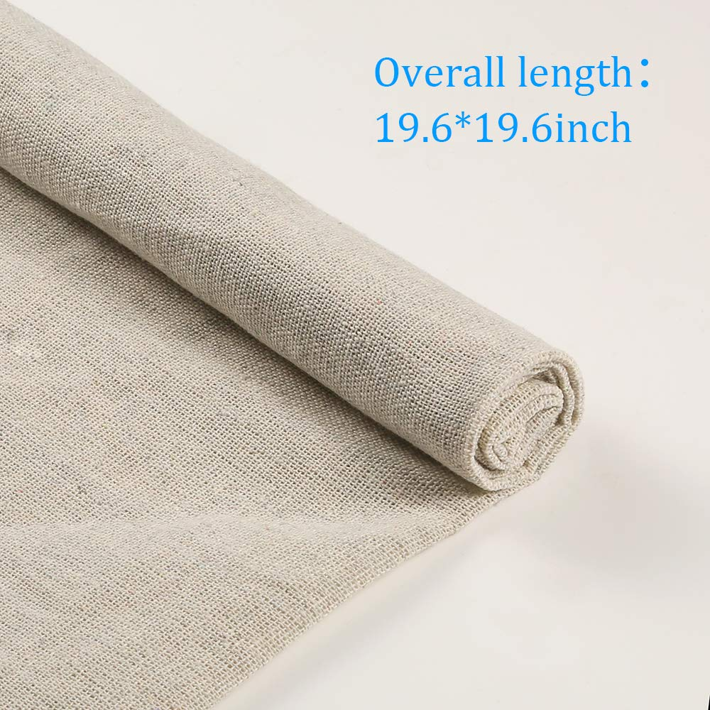 Caydo 6 Pieces 6 Colors Linen Needlework Fabric for Garment Craft, 19.6 by 19.6 Inch by Caydo (Image #4)