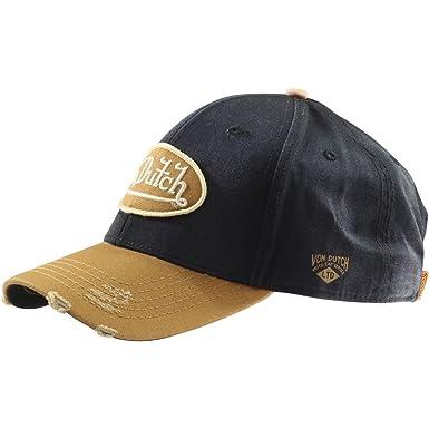 3687c314c19 Von Dutch Men s Dad Hat Strapback Brown Baseball Cap Hat (One Size Fits  Most)