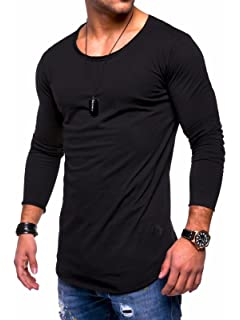 a21ae4e7 Behype Men's Slim Fit O-Neck Long Sleeve Muscle Tee T-Shirt Casual Tops