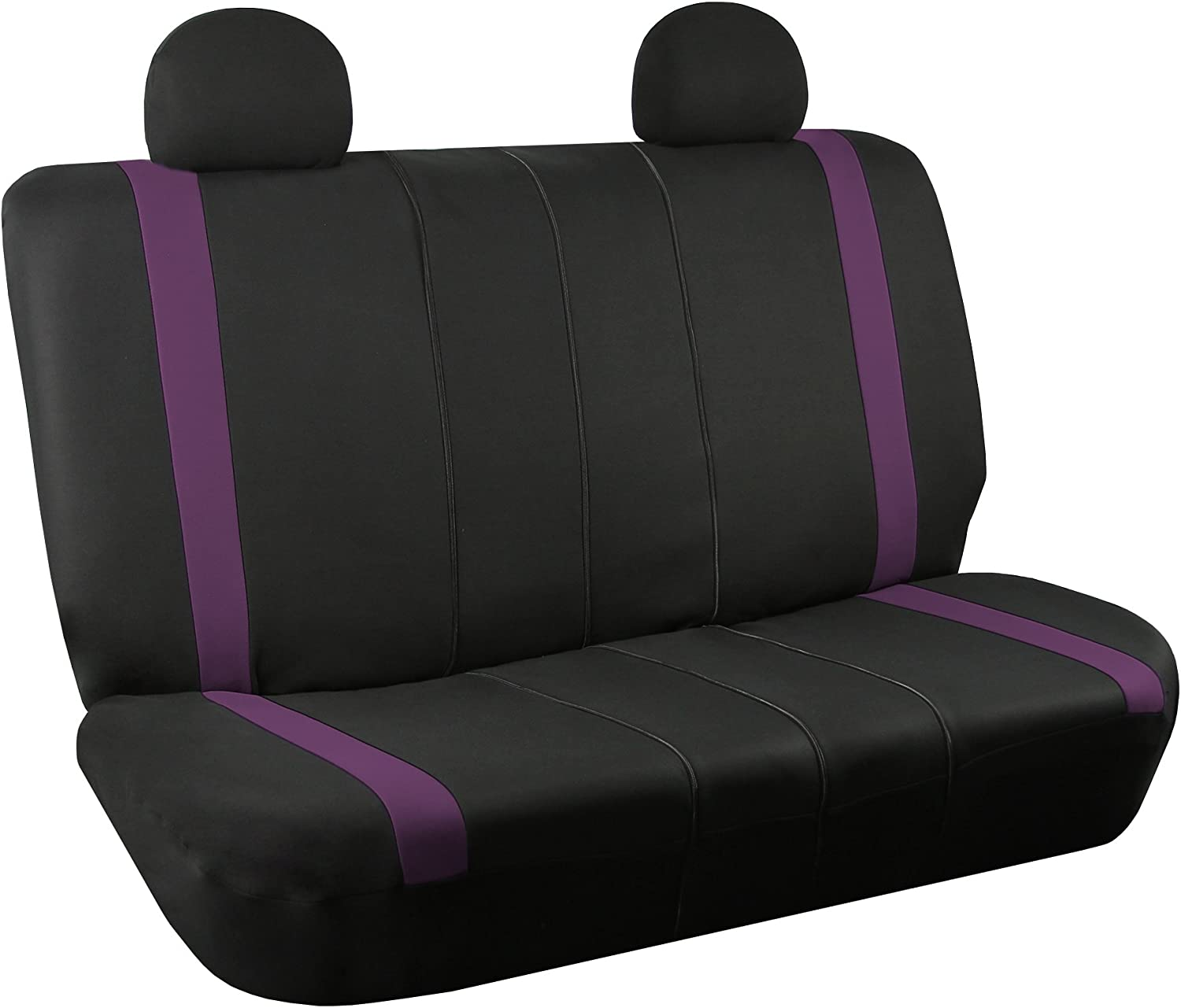 w. 4 Detachable Headrests and Solid Bench FH Group FB032PURPLE114 Purple Unique Flat Cloth Car Seat Cover