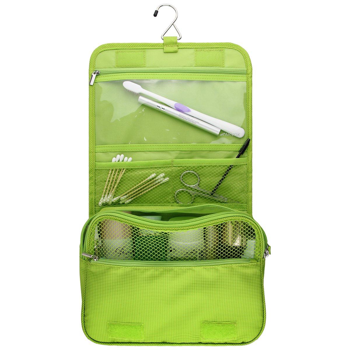 5fdea05bdd Arvok Travel Toiletry Bag with Metal Hanging Waterproof Storage Organizer