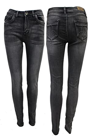 e89063f9ef7 New Womens Ladies Washed Out Effect Grey Jeans Size UK 8