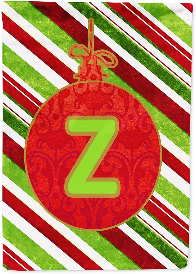 Caroline's Treasures CJ1039-Z-GF Christmas Oranment Holiday Letter Z Monogram Initial Flag Garden Size CJ1039, Small, Multicolor