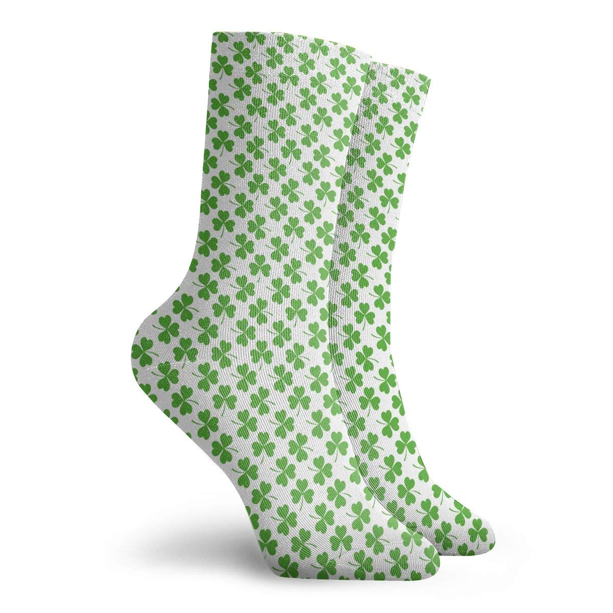 Unisex The Luckiest St.Patricks Day Clover Green Athletic Quarter Ankle Print Breathable Hiking Running Socks
