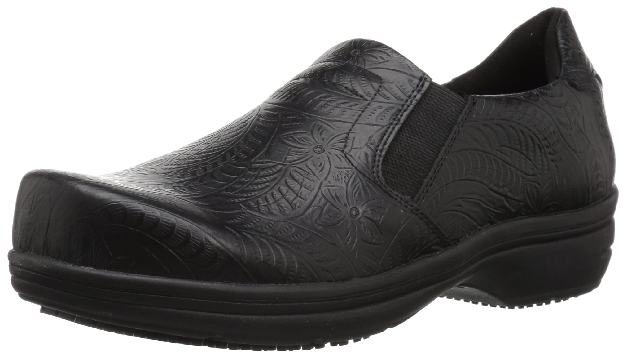 Easy Works Women's Bind Health Care Professional Shoe, Black Embossed, 9.5 W US