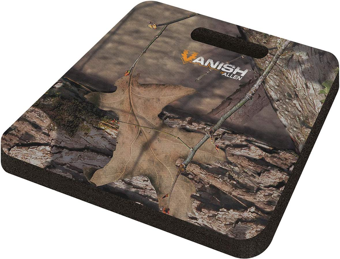 Allen Company - Vanish Hunting Foam Seat Cushion, 13 x 14 x 1 inches - (Mossy Oak Country, Realtree Edge, Olive Green)
