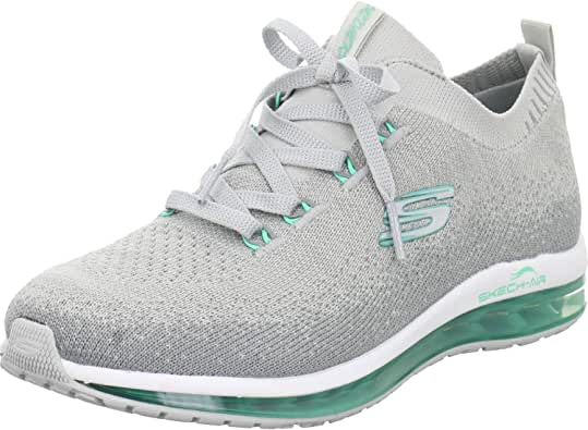 Skechers Skech-Air Damen-Hellgrau, Petrol, Zapatillas de Running Calzado Neutro para Mujer: Amazon.es: Zapatos y complementos