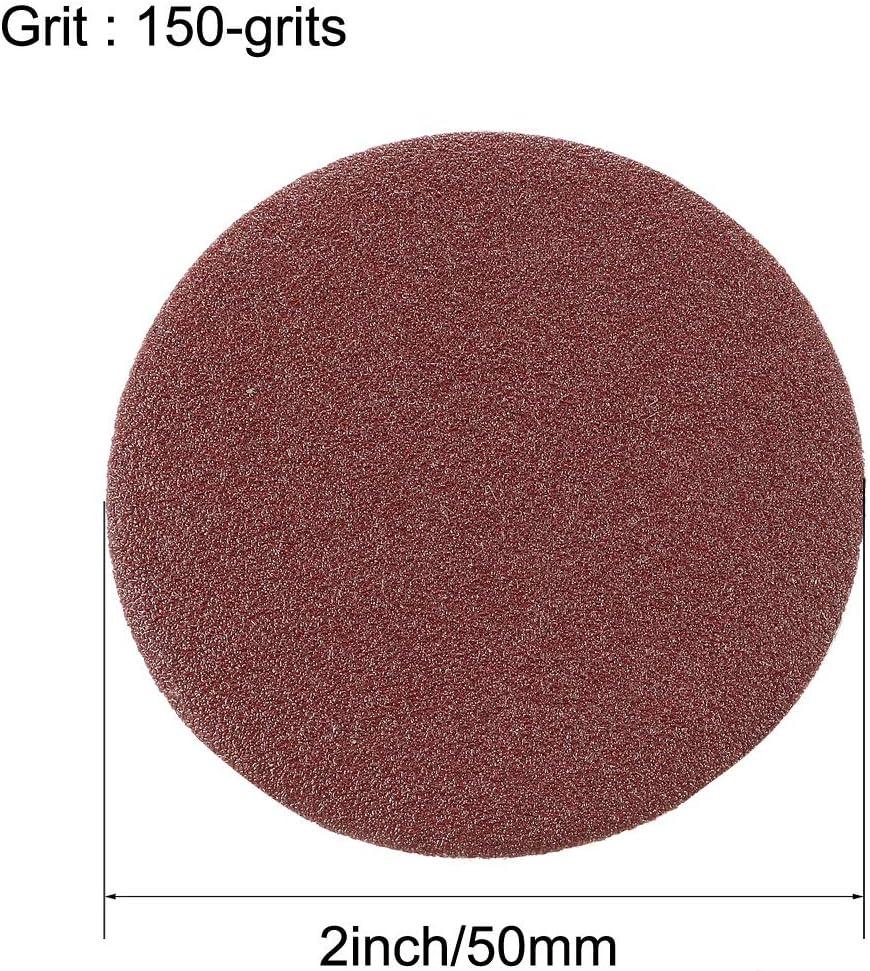 sourcing map 2 Inch Hook and Loop Sanding Discs 180 Grits Grinding Abrasive Sanding Pads Sandpaper 10pcs