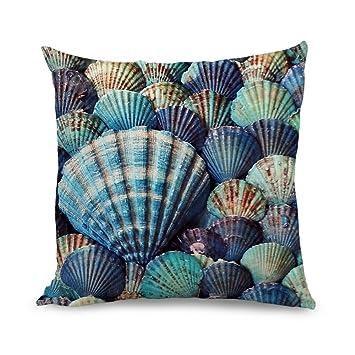 Amazon Wendana Seashell Throw Pillow Covers 40 X 40 Decorative Adorable Seashell Pillows Decorative