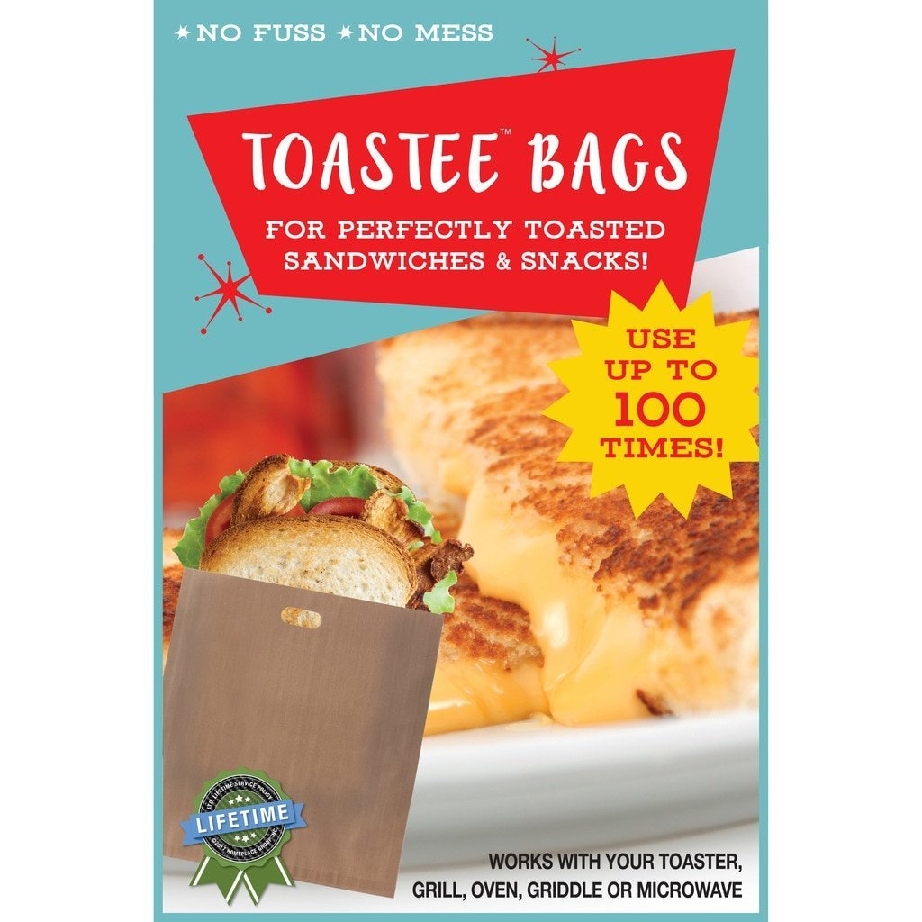 Toastee Bags: Non-Stick Reusable Toaster Bags (12)