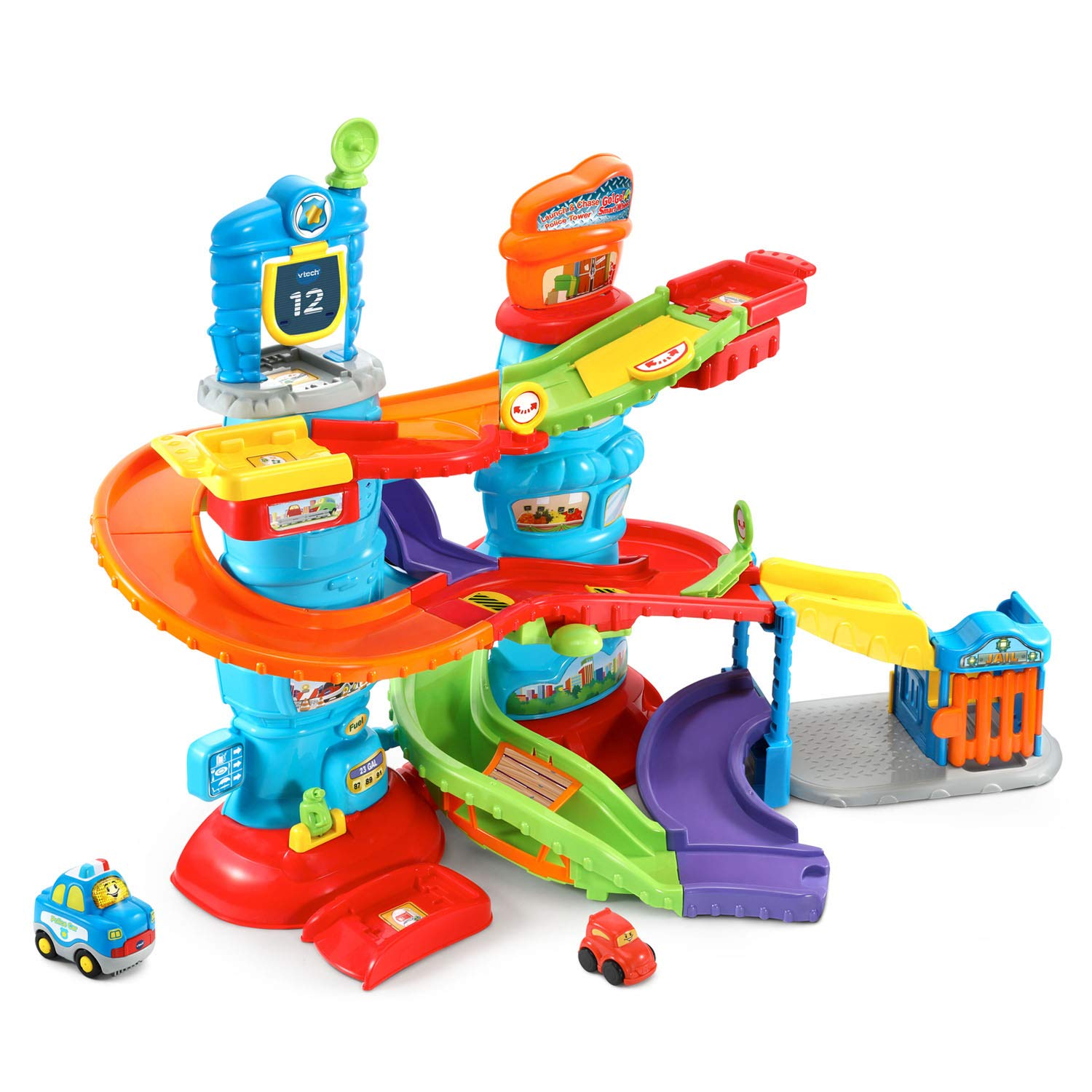 VTech Go! Go! Smart Wheels Launch and Chase Police Tower 80-512900