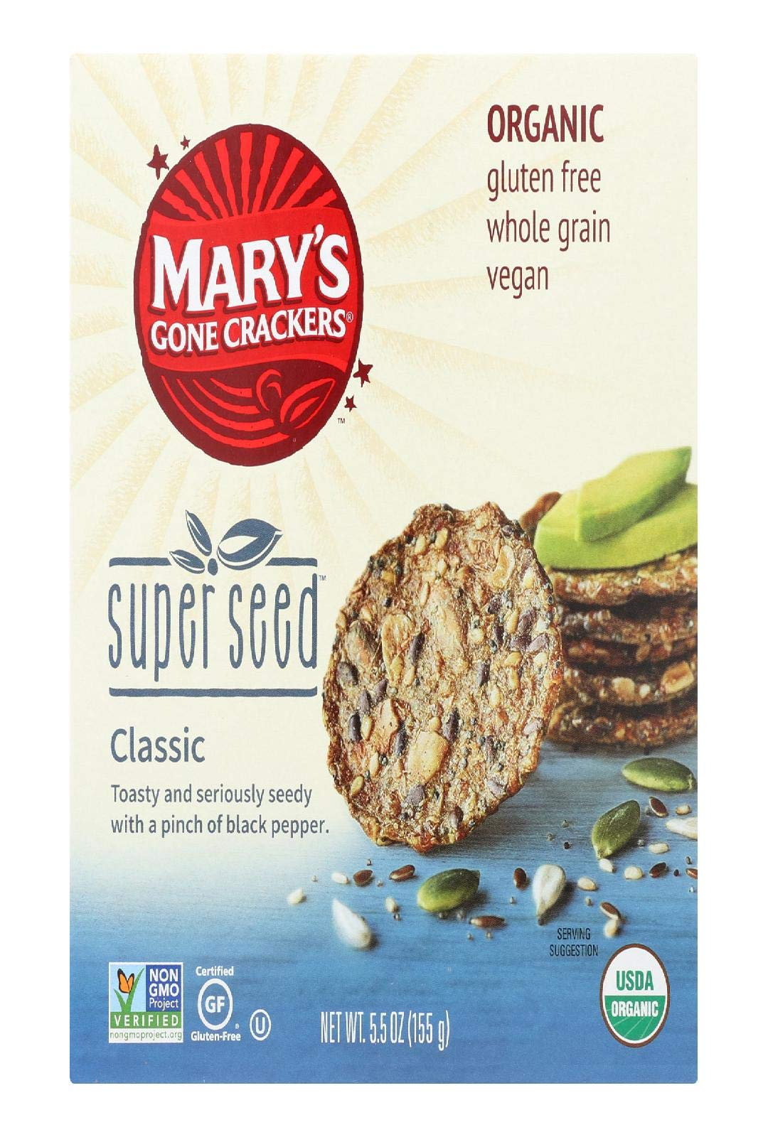 Marys Gone Crackers Cracker Super Seed by Mary's Gone Crackers