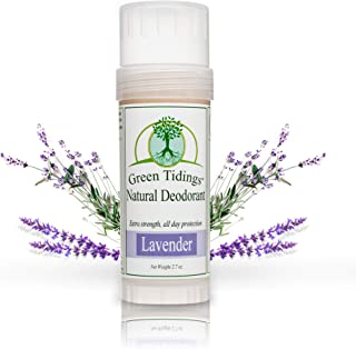product image for Green Tidings Natural Lavender Deodorant | Vegan, Organic Deodorant for Men and Women, Fragrance Free & Aluminum Free Deodorant, Underarm Antiperspirant 2.7 Oz 1 Pack