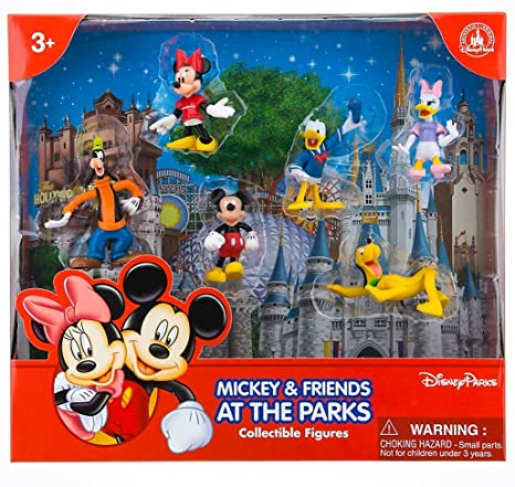 18bc5fb3181 Amazon.com  Disney Mickey   Friends Minnie Donald Goofy Daisy Pluto at the  Theme Parks 6 Pc. Clubhouse Figure Playset Cake Topper Figurines  Toys    Games