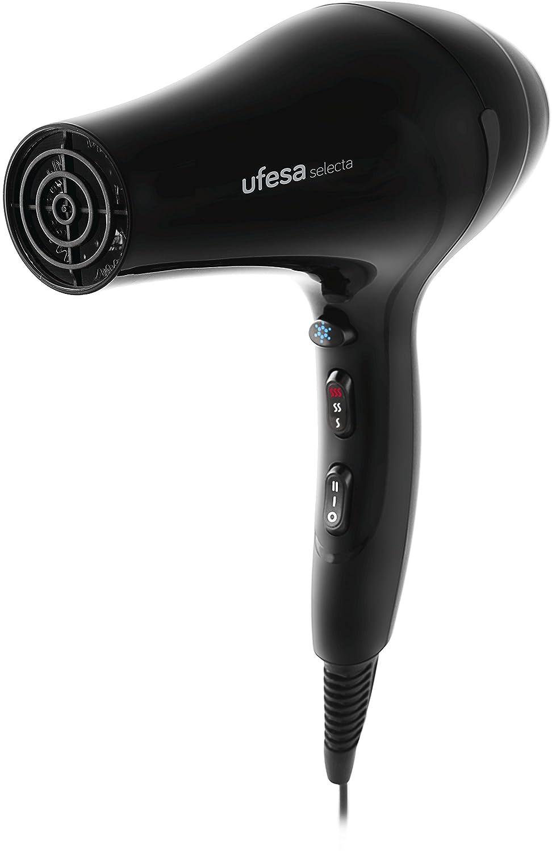 Ufesa SC8397 - Secador de pelo profesional (2.200 W, motor AC profesional, tecnología iónica), negro mate: Amazon.es: Salud y cuidado personal