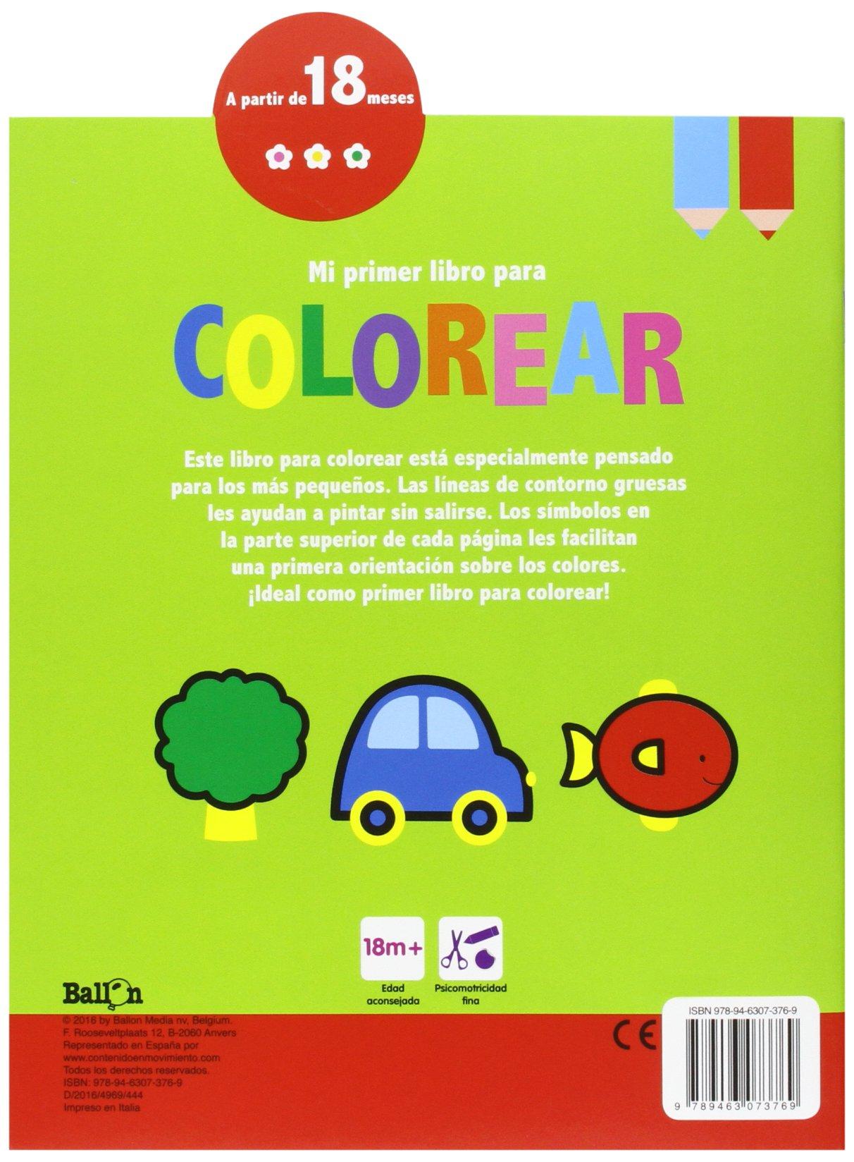 Osito. Mi Primer Libro Para Colorear: Amazon.es: Ballon, Teresa ...