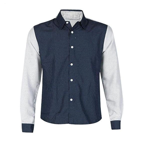Camisetas Hombre de BaZhaHei, Moda para Hombre de Lujo Camisas de Manga Larga Hombre Slim