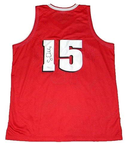 new style 8fd16 9da03 Sam Dekker Autographed Jersey - #15 Red Basketball - JSA ...