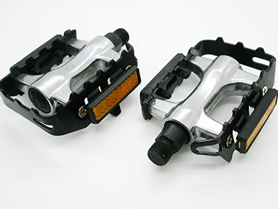 Pedales Para Bicicleta en Aluminio con Reflectante y Apertura de Calapies 2648: Amazon.es: Deportes y aire libre