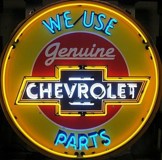 Amazon.com: Chevrolet 36-Inch señal de neón en metal puede ...