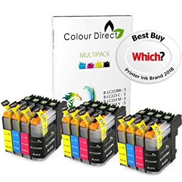 Colour Direct 12 LC223 Compatible Cartuchos de Tinta Reemplazo para Brother DCP-J4120DW, MFC-J4420DW, MFC-J4620DW, MFC-J4625DW, MFC-J5320DW, ...