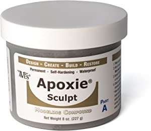 Apoxie Sculpt 1 lb. Silver Grey, 2 Part Modeling Compound (A & B)
