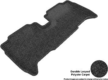 Black Classic Carpet 3D MAXpider Second Row Custom Fit Floor Mat for Select Toyota Yaris Models