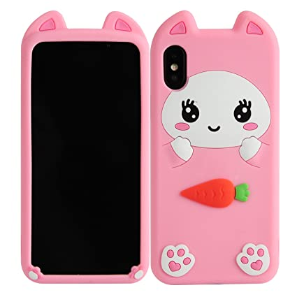 78ef8fc28 Image Unavailable. Image not available for. Color: iPhone X Case,  Phenix-Color 3D Cute Cartoon Soft Silicone Mickey Mouse Hello Kitty