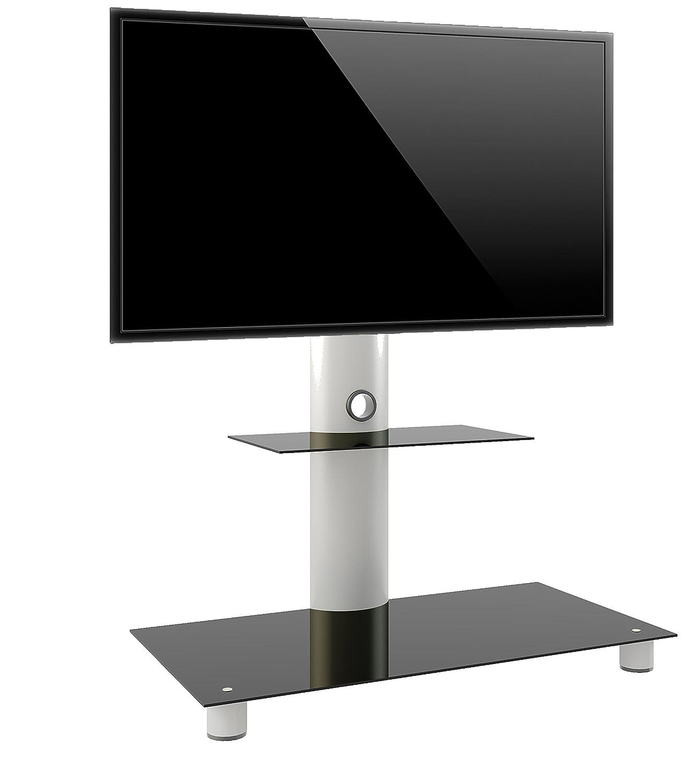 Vcm 14225 Standol Meuble Tv Roulettes Incluses Aluminium Verre  # Meuble Tv Son Integre