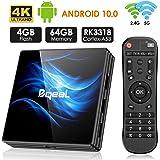 Android 10.0 TV Box, Bqeel R2 Max TV Box RK3318 64-bit Quad Core 4GB RAM 64GB ROM with Dual WiFi 2.4G / 5G 2020 Smart TV…