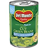 Del Monte Pull-Top Can Fresh Cut Blue Lake Low Sodium Cut Green Beans, 14.5-Ounce (Pack of 12)