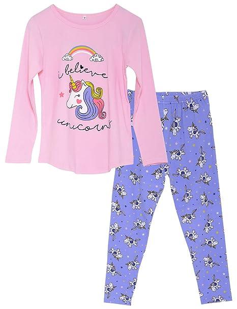 Amazon.com: Pijama de unicornio para niñas grandes, 100 ...