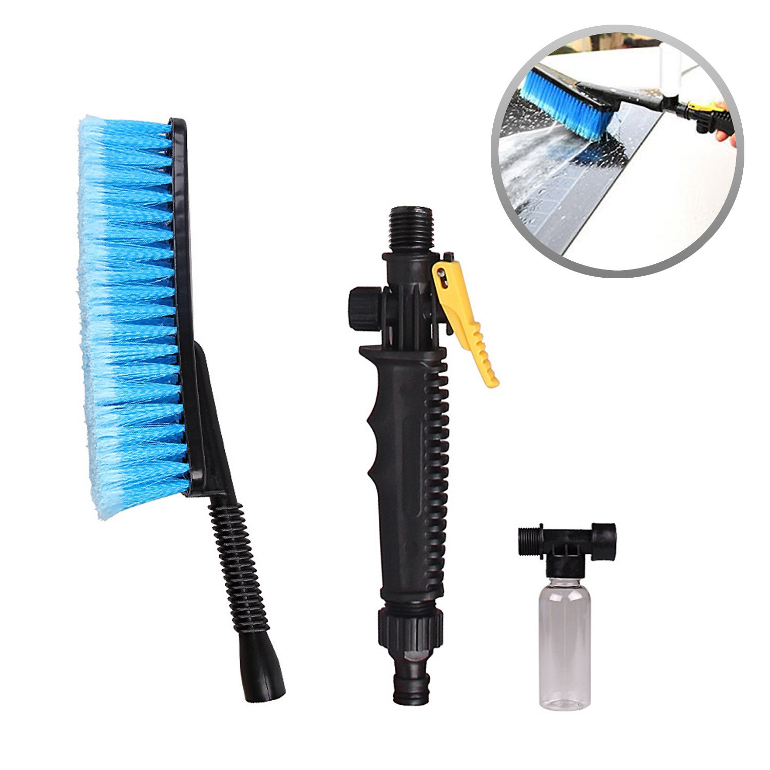 Super PDR Soft bristle Car Washing Brush Cleaning Kit Flow-Thru washing brush with water and foam sprayer Vehicle Cleaning Tool Washer Bottle 4332943599