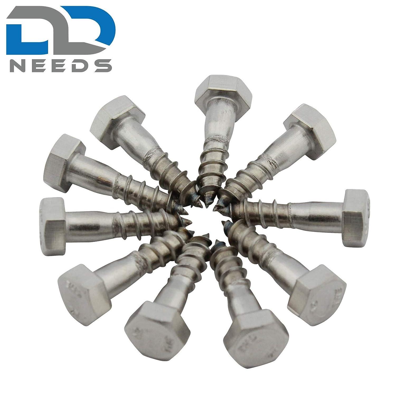din571//–/Acero inoxidable A2/VA /Tornillos hexagonales de madera 10/pieza/