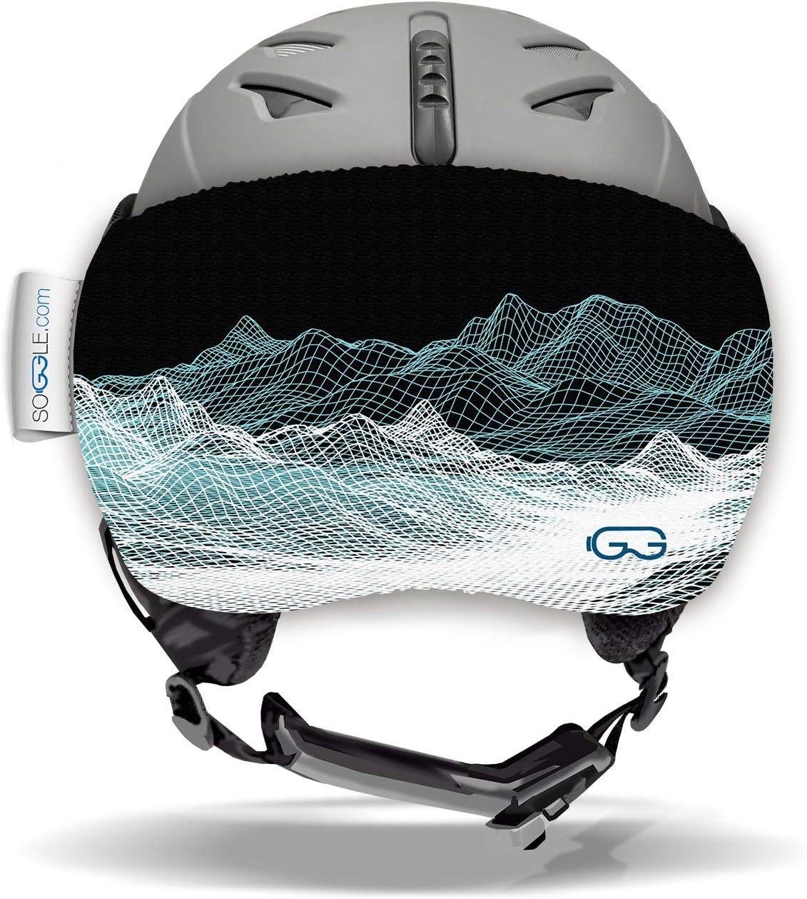 Soggle Vizor Vizor Digital Mountain colore Visiera protettiva per casco da sci