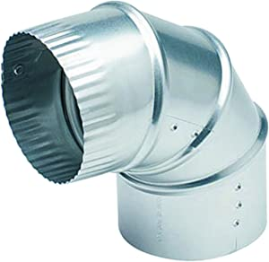 "Deflecto Aluminum Dryer Vent Elbow, Fully Adjustable, 4"", Silver (DE904)"