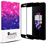 [2 Packs + 1 Camera Lens Film] OnePlus 5 Screen Protector,Topnow 2.5D Full Coverage 9H Hardness Tempered Glass Screen Protector Film for OnePlus 5 - Black