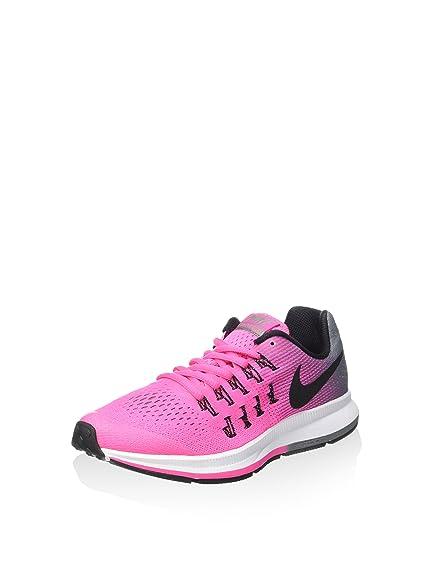 sports shoes 10963 ceba1 Nike Girls' Zoom Pegasus 33 (Gs) Sneakers Pink Size: 38 EU ...