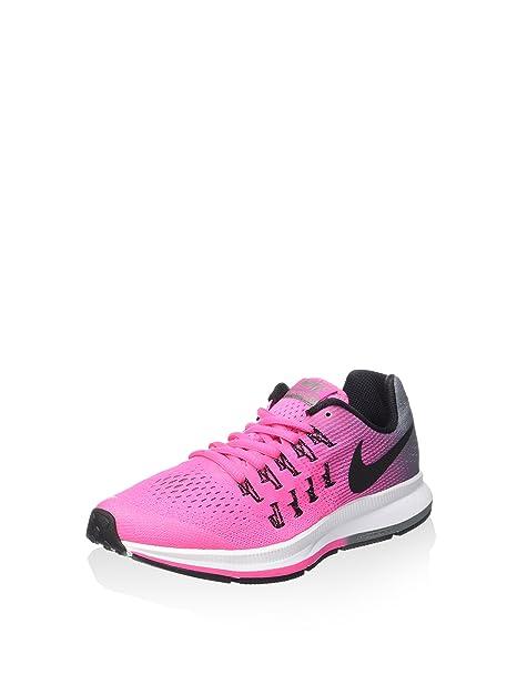 on sale 38c42 f2413 Nike Bambina Zoom Pegasus 33 (GS) Scarpe Sportive Rosa Size 37.5