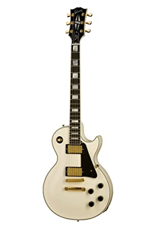 Gibson Les Paul Custom color blanco + Funda guitarra eléctrica ...