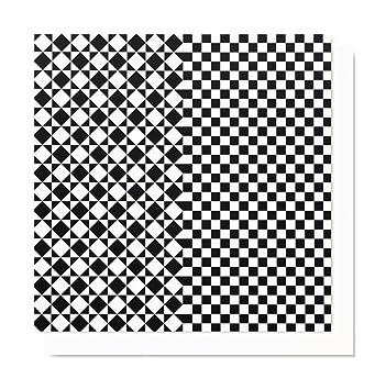 Postkarte Grußkarte Schwarz Weiß Design Muster Formen Umschlag